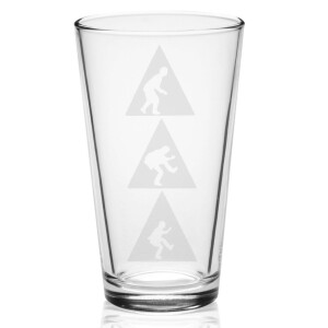 Triangles Laser-Etched Pint Glass