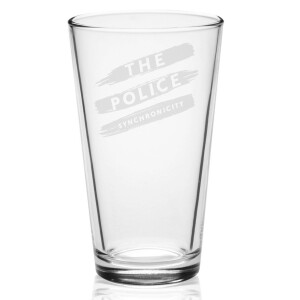 Synchronicity Stripes Laser-Etched Pint Glass