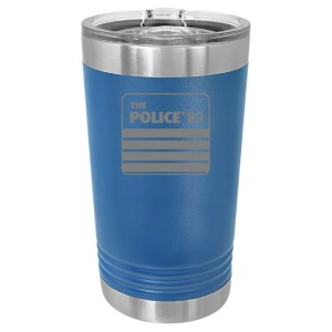 Police 83 Tour Laser Engraved Polar Camel Pint
