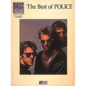The Best of The Police Bass Recorded Versions Songbook