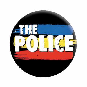 "The Police Striped Logo 1.25"" Button"