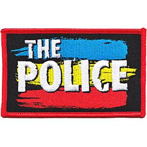 "The Police Striped Logo 4""x2.3"" Patch"