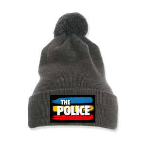 The Police Pom-Pom Knit Beanie