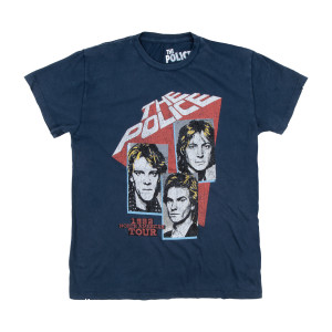 The Police 1982 North American Tour Mens Tee