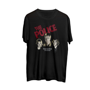 The Police Men's Outlandos Red Logo T-Shirt