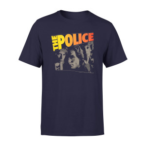 The Police Band Photo Navy T-Shirt