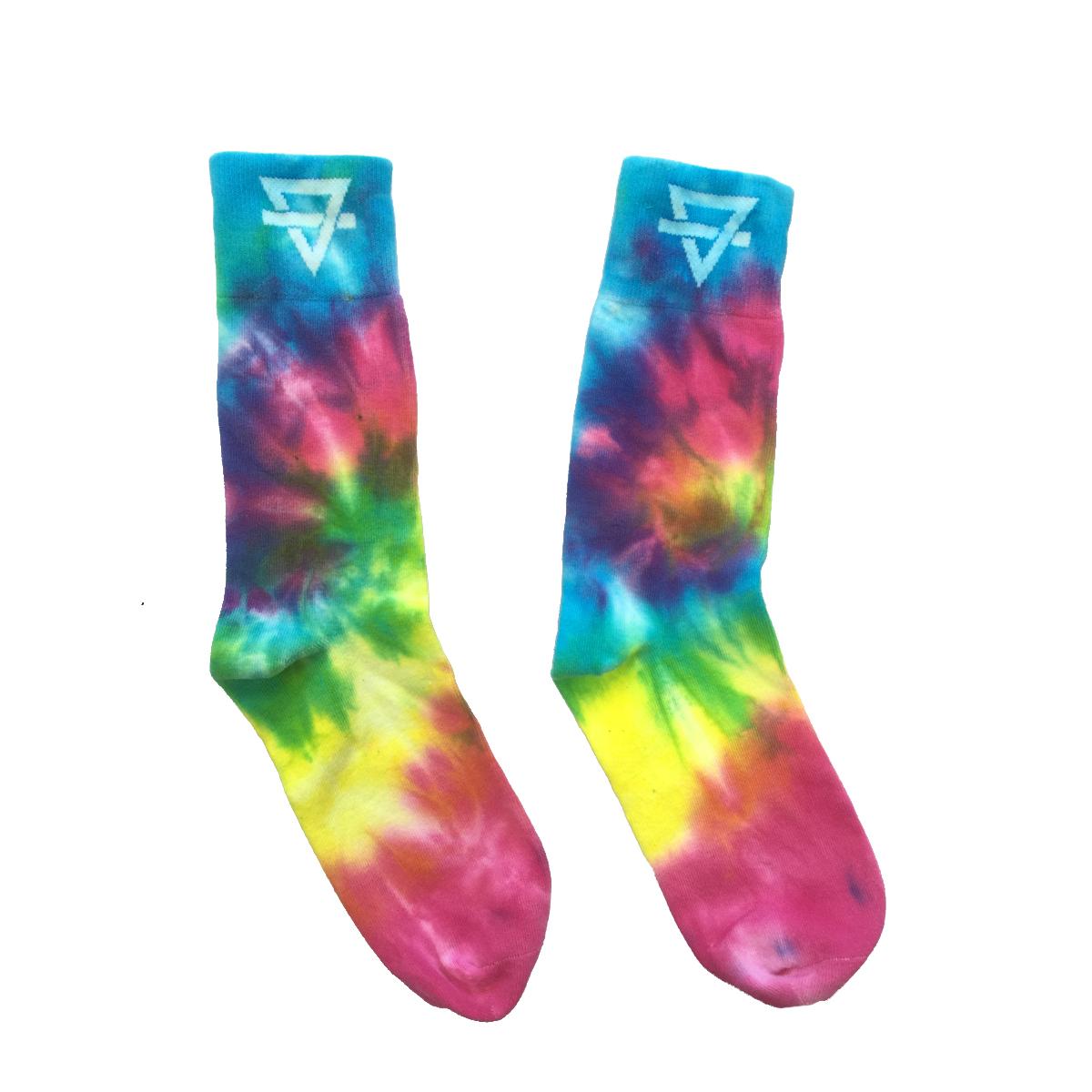 Rainbow Kitten Surprise Tie Dye Socks