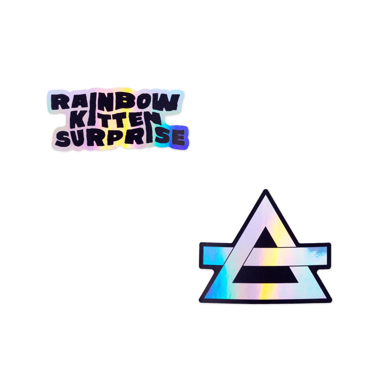 Rainbow Kitten Surprise Holographic Sticker Set