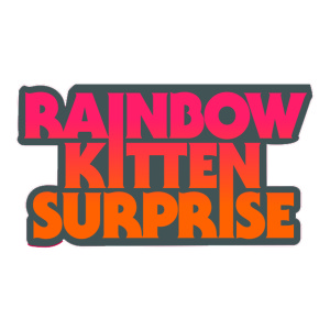 Die Cut Rainbow Kitten Surprise Sticker