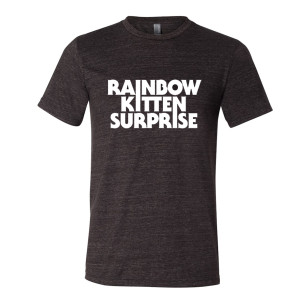 Rainbow Kitten Surprise Text Logo Tee