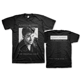 ADAM LAMBERT 2016 TOUR WHITE OUT T-SHIRT