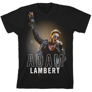 Adam Lambert 2017 Tour Black T