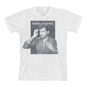 Adam Lambert Faded Box White T-Shirt