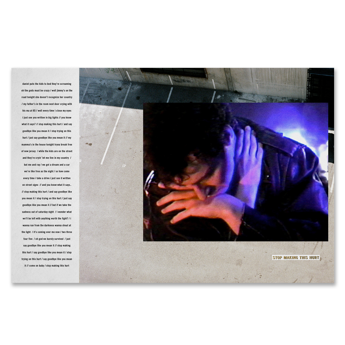 Take the Sadness Out of Saturday Night LP (Main Cover) - Limited First Pressing