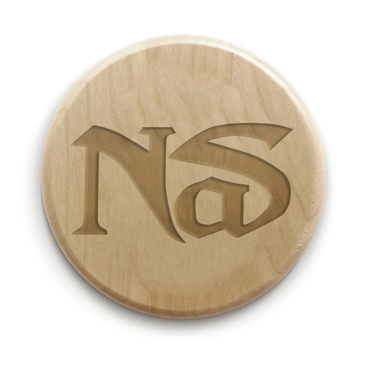 """Nas 4"""" Circle Wood Coaster"""
