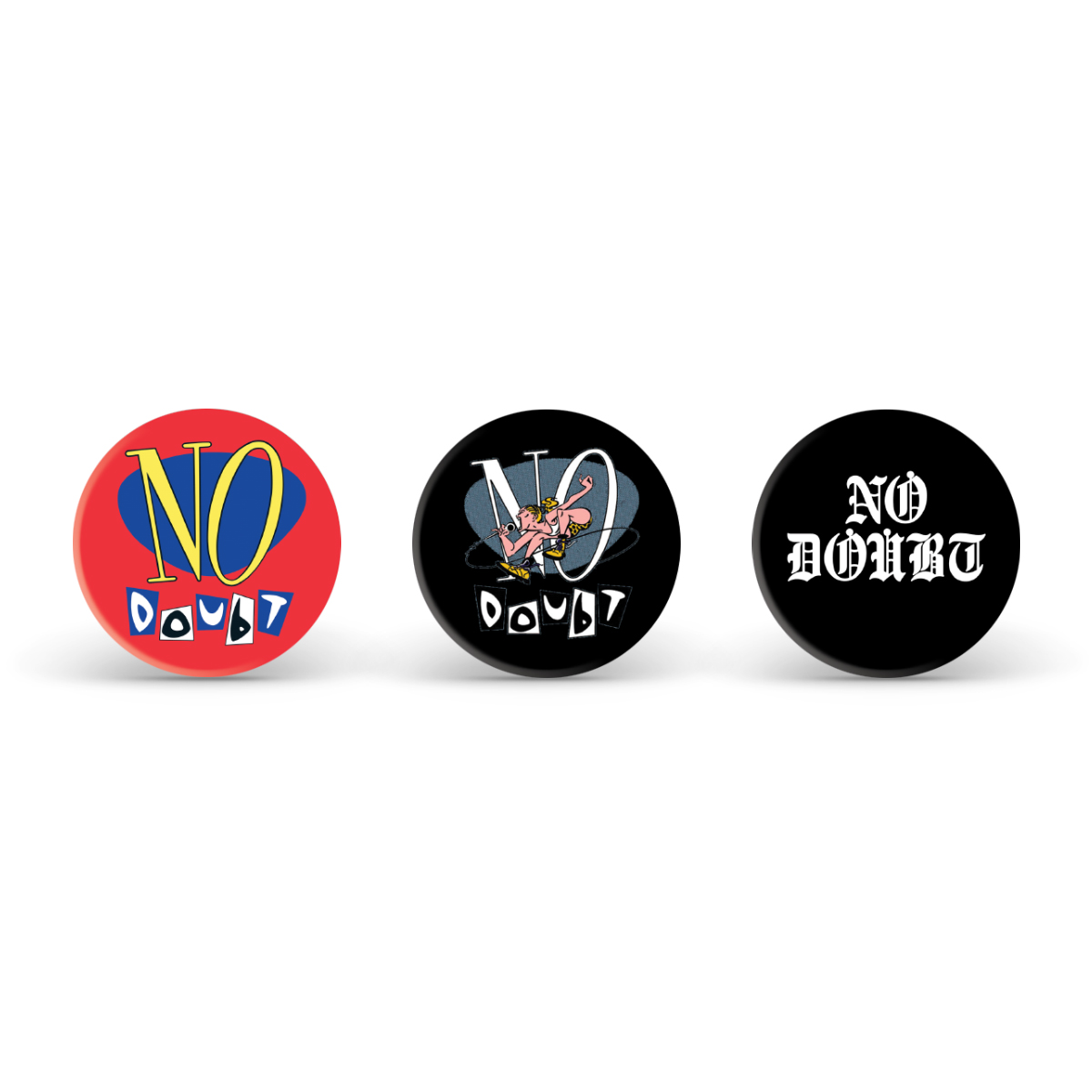 No Doubt Button Set