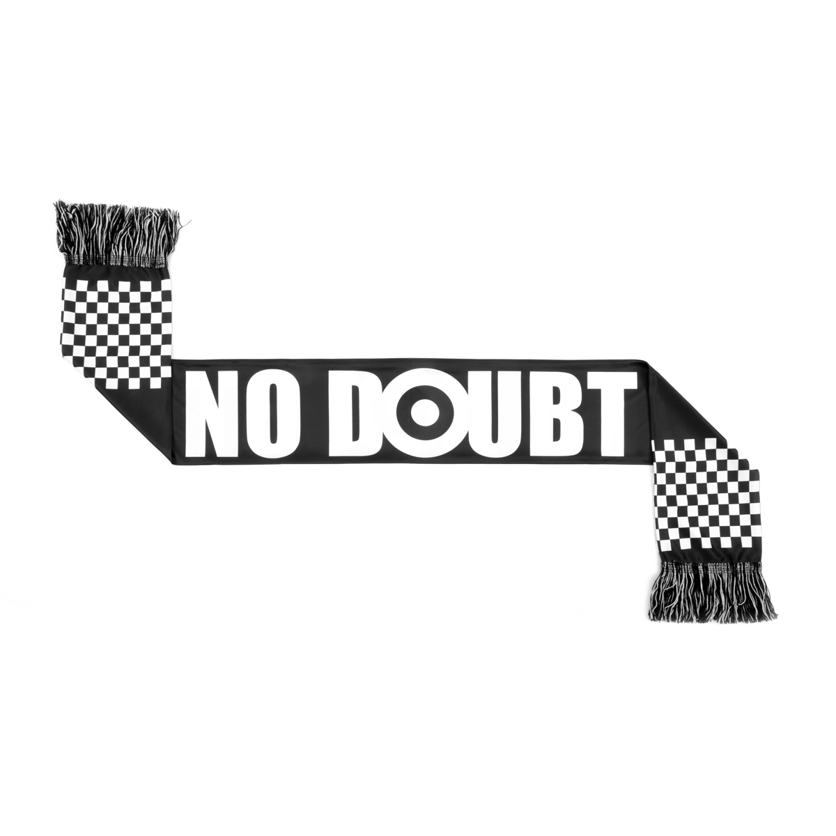 No Doubt Black & White Checkered Scarf