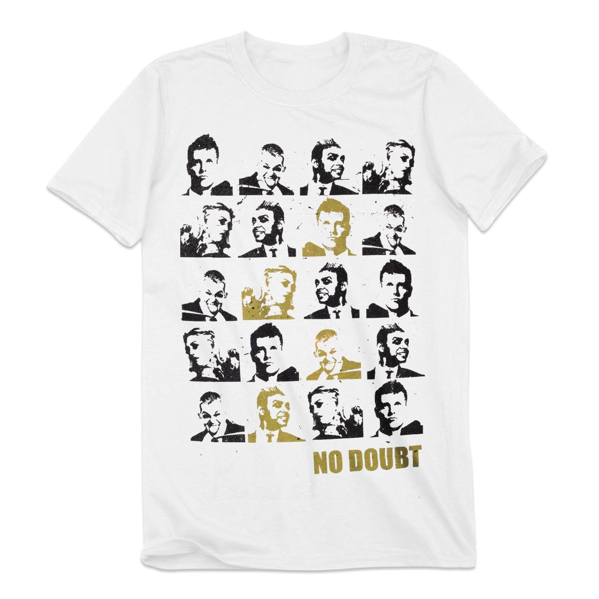 Tiles Men's White T-Shirt