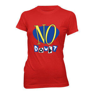 No Doubt Vinyl Release Red Ladies Tee