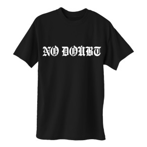 Old English No Doubt Logo Black T-Shirt