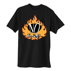 Vintage Flame Logo ND Black T-Shirt