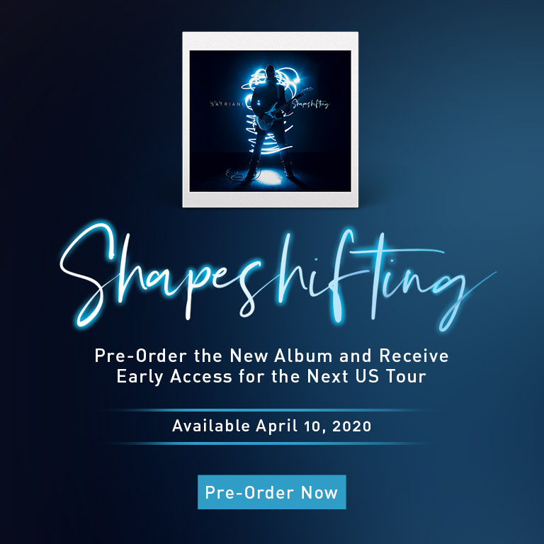 Joe Satriani | Shapeshifting | Pre-order the new album and receive early access for the next US tour | Pre-order now