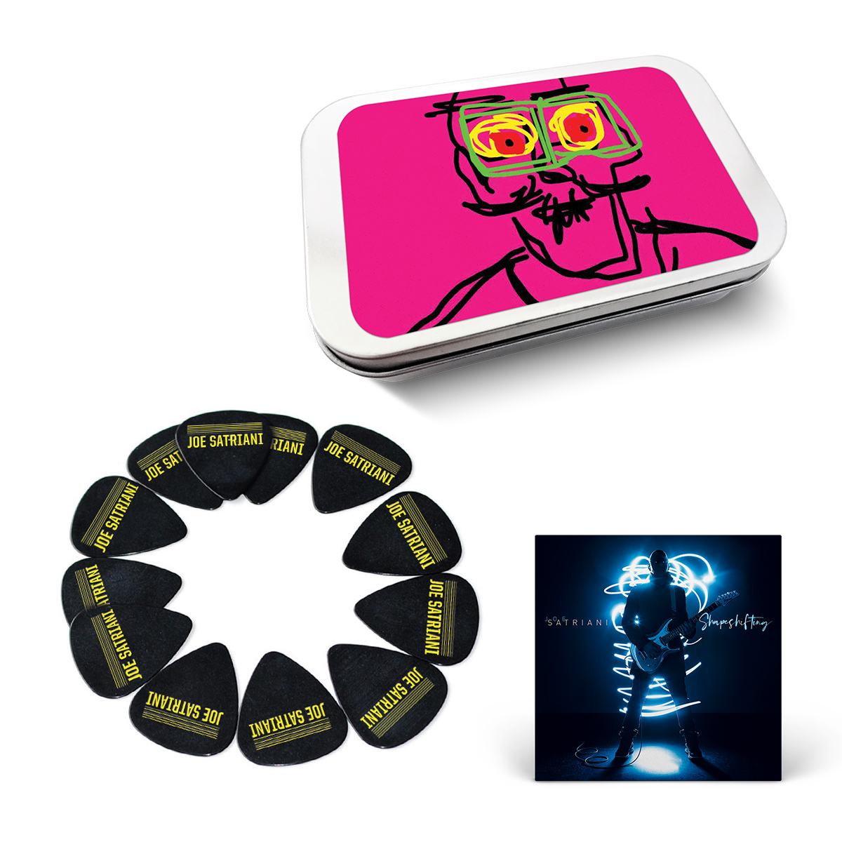 Joe Satriani: Shapeshifting Album + Original Artwork Guitar Pick Tin