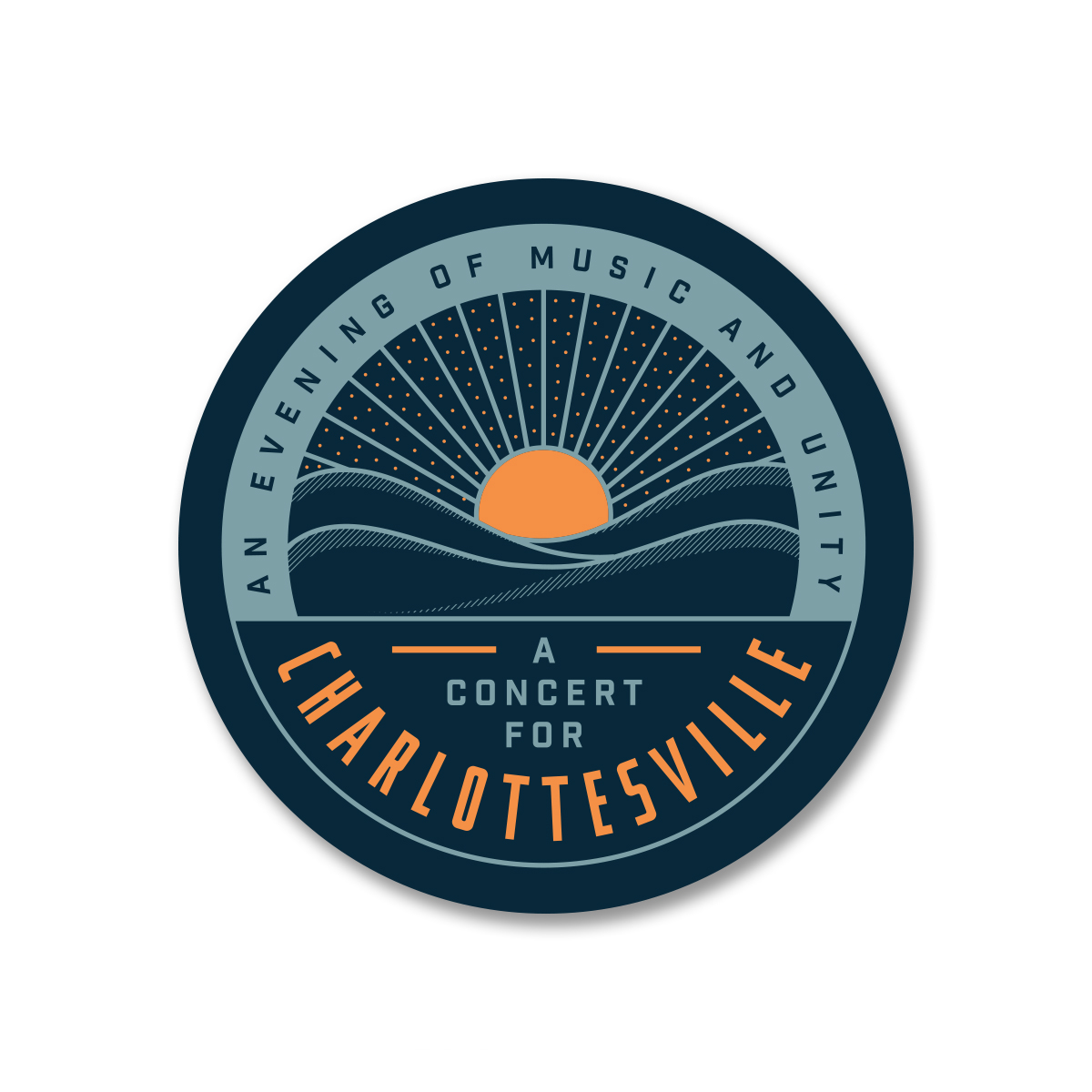 Concert for Charlottesville Sticker - Circle Logo