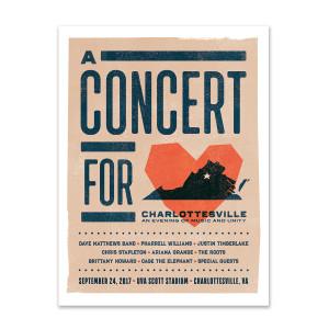 Concert for Charlottesville Poster - Heart Logo