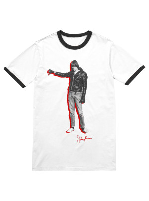 Johnny Ramone™ Thumbs Down Ringer T-shirt