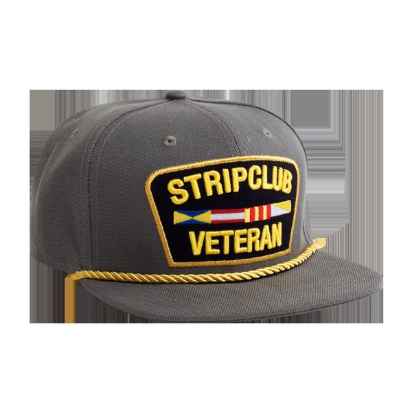Strip Club Veteran Snapback - Grey  51b0cb71df1