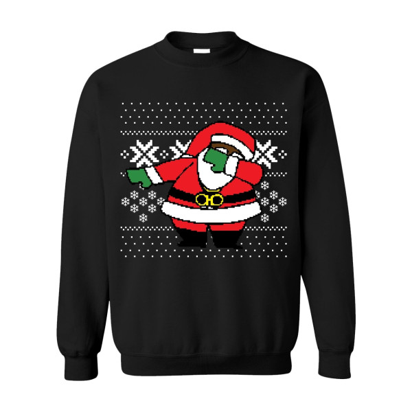 Classic Dabbing Black Santa Ugly Black Sweater Shop The 2 Chainz