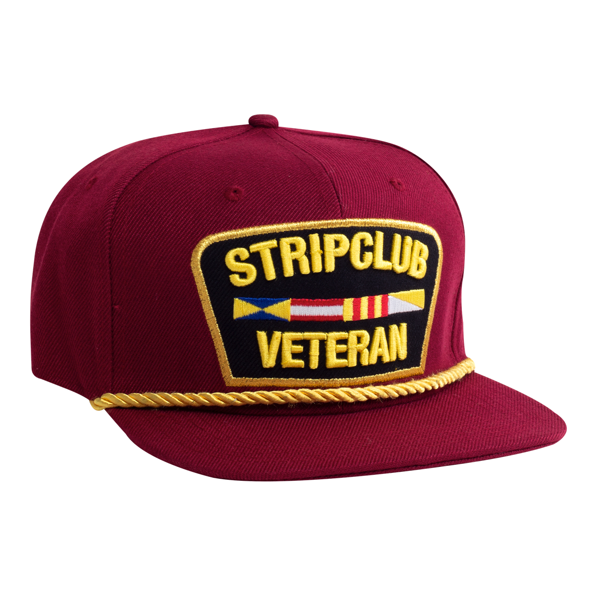 Strip Club Veteran Snapback - Red