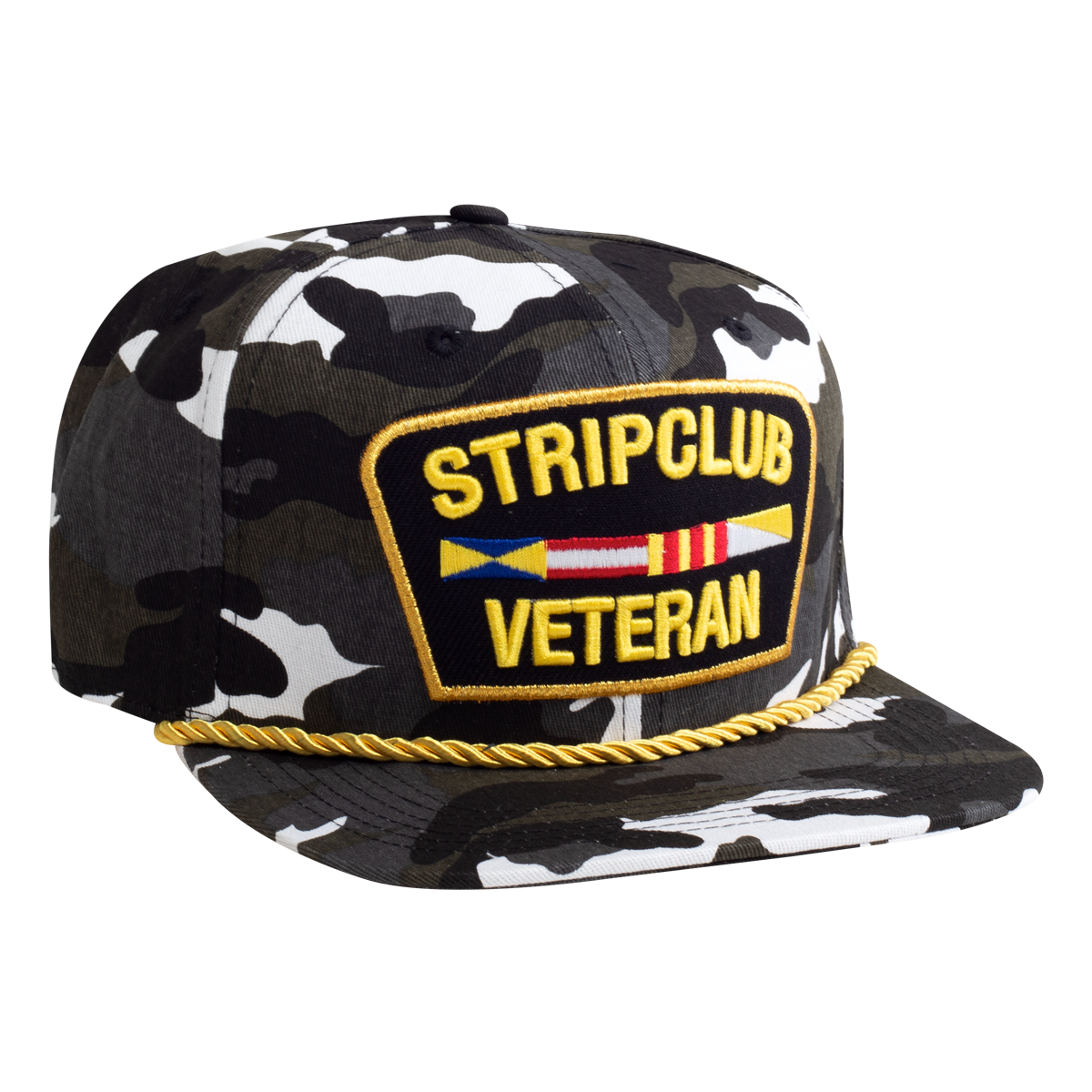 Strip Club Veteran Snapback - White Camo