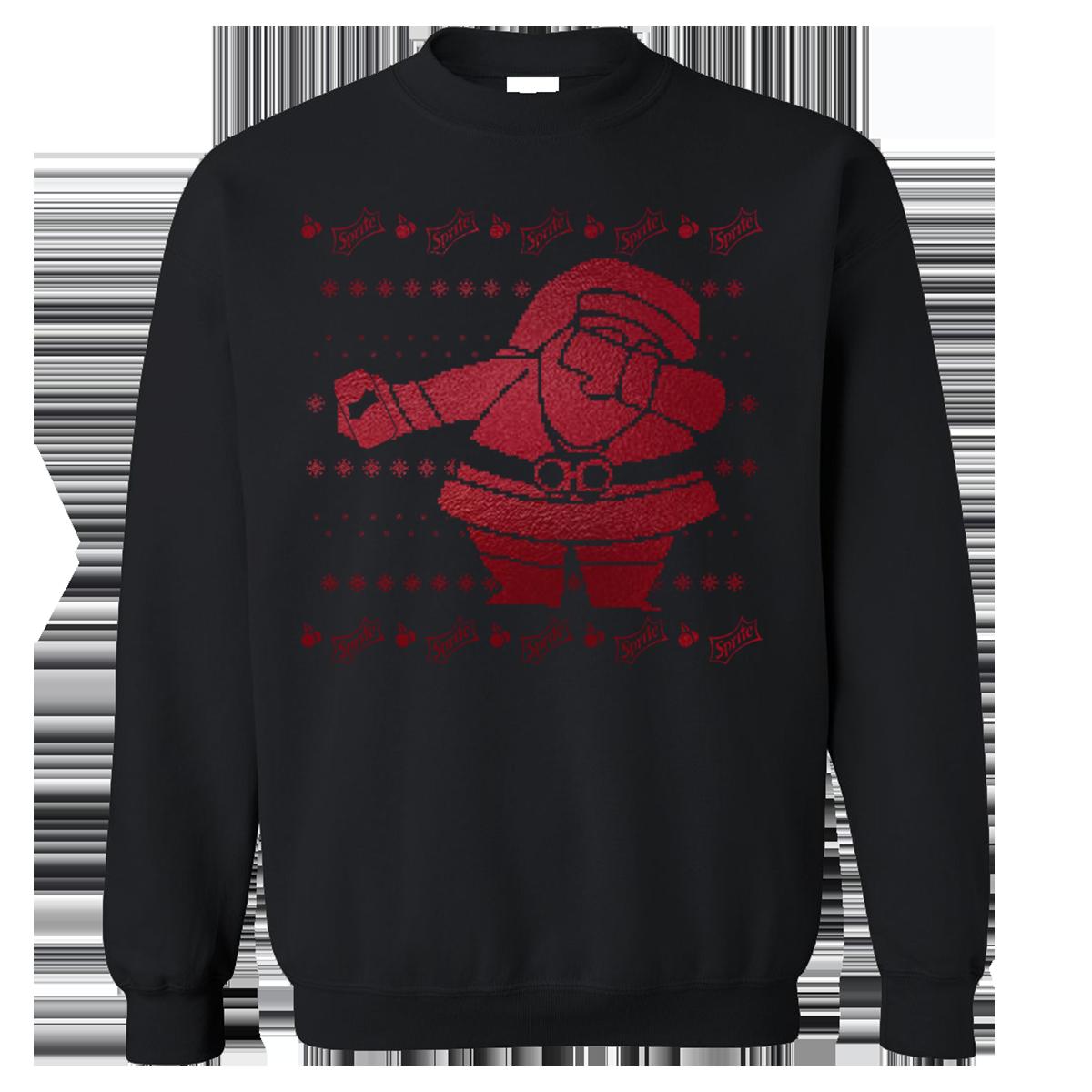 Sprite Cran x Dabbin Santa Foil Sweatshirt [Black]