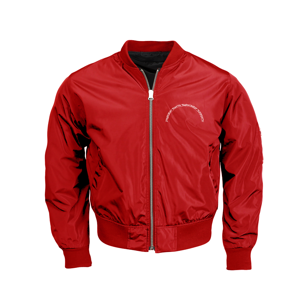 Dabbin Santa OG Sequin Bomber Jacket [Red]