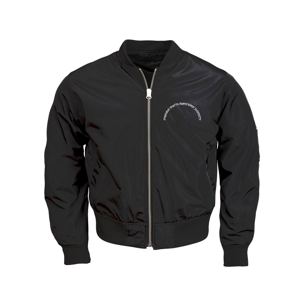 Dabbin Santa OG Sequin Bomber Jacket [Black]