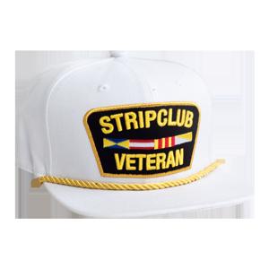 Strip Club Veteran Snapback - White