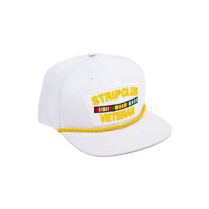 Strip Club Veteran Snapback - White Logo