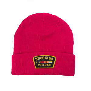 Strip Club Veteran Hot Pink Beanie