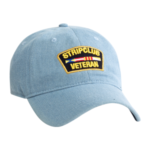 Strip Club Veteran Dad Hat - Denim