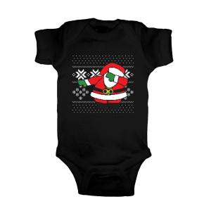 Dabbing Santa Ugly Christmas Onesie