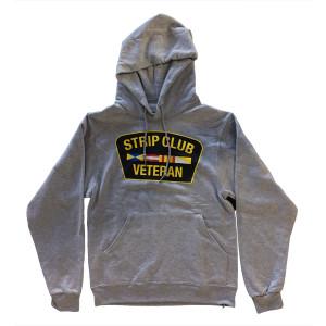 Strip Club Veteran Grey Pullover Hoodie