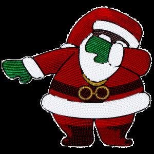 Dabbin Santa OG Sequin Bomber Jacket [Red]