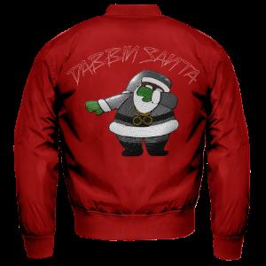 Dabbin Santa Silver Sequin Bomber Jacket [Red]