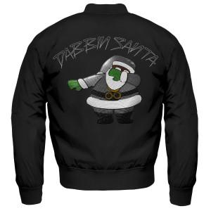 Dabbin Santa Silver Sequin Bomber Jacket [Black]