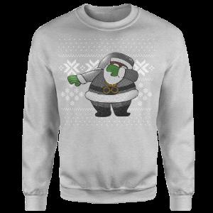 Dabbin Santa Silver Sequin Sweatshirt [Grey]