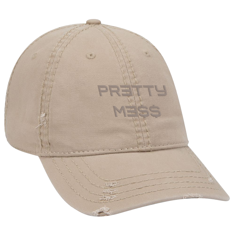 Pretty Me$$ Distressed Hat [Tan]