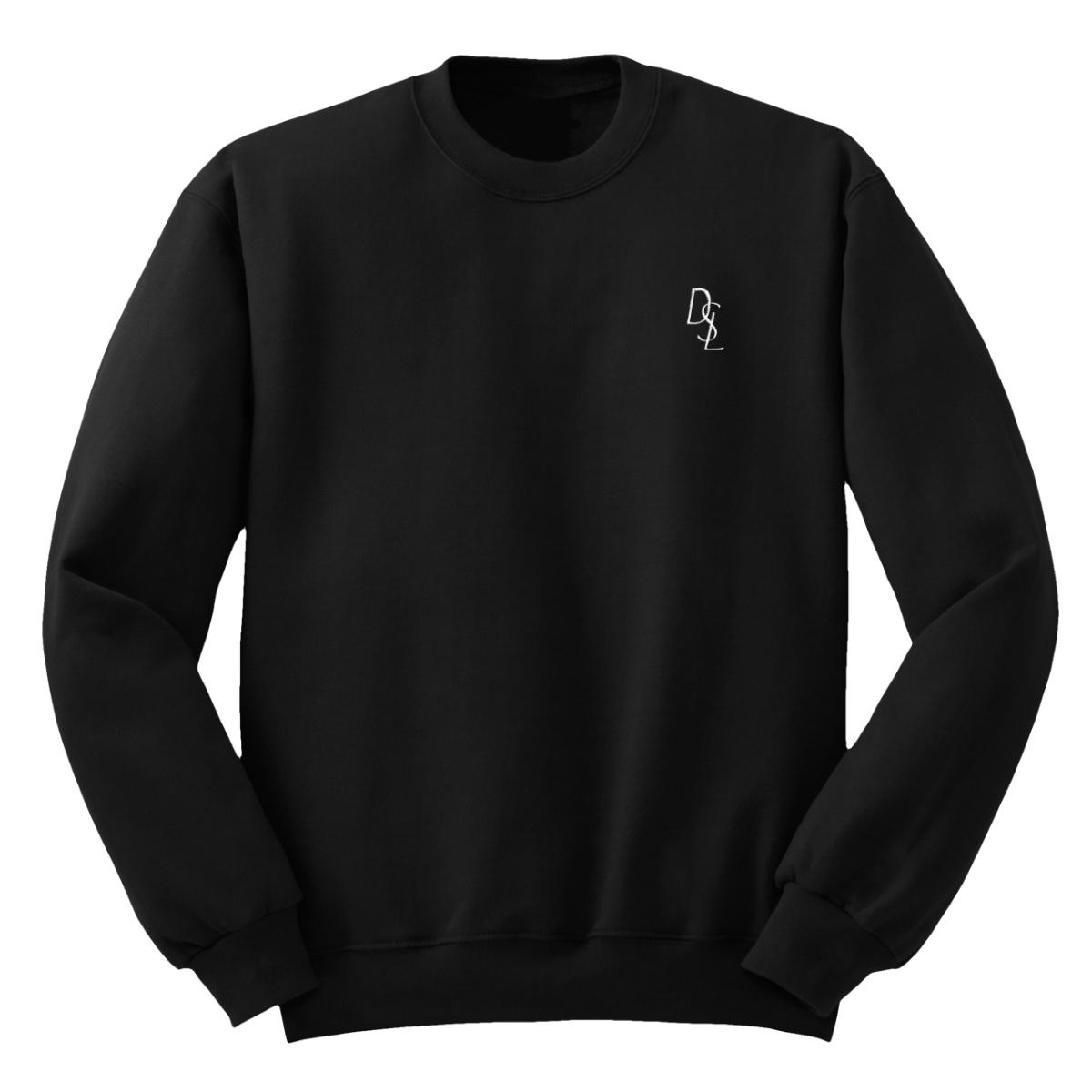 DSL Embroidered Crew Sweatshirt [Black/White]