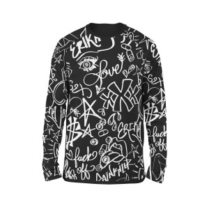 Doodle Allover Printed Long Sleeve T-Shirt